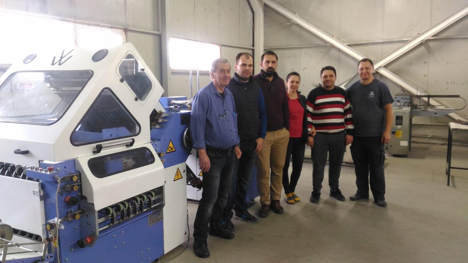 Installation of Diploma Folding machine At CoPrint, Romania